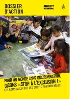 Dossier d'action : POUR UN MONDE SANS DISCRIMINATION,