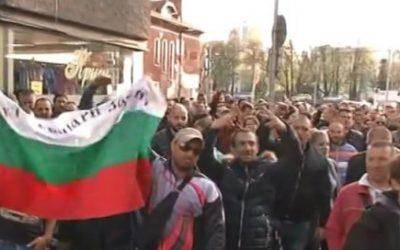 Forte présence policière dans le Gabrovo bulgare.